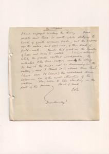 Letter from CS Emden re diary