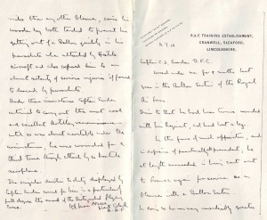 letter to C S Emden re award of DFC