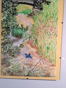 Kingfisher at Kilham looking upstream