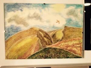 Kestrel over Bizzel Crags