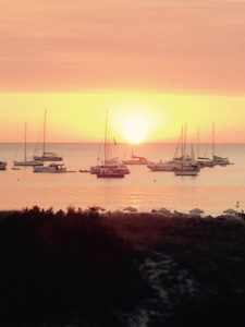 Sunset at Cala Saona Formentera