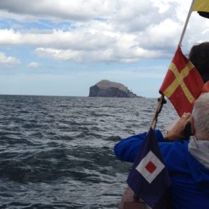 Approaching Bass Rock on the Sula