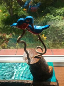 Kingfishers sculpture
