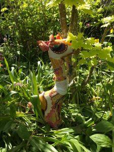 Giraffe in wild garden